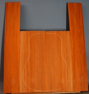 Padauk guitar back and sides set