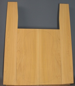 Cypress guitar back and sides set grade CAA