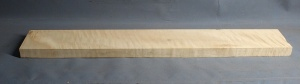 Curly maple bass guitar fingerboard medium figure