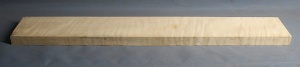 Curly maple guitar neck blank type F medium figure number 43
