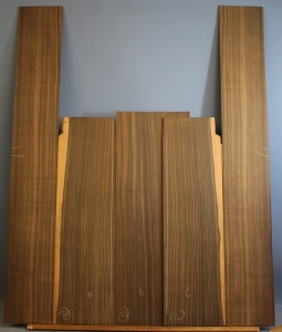 Macassar ebony guitar back and sides set number 32