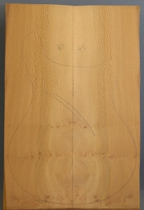 Lacewood guitar top number 45 type 'B'