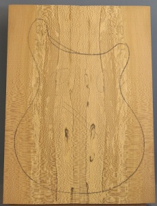 Spalted lacewood guitar top number 1 type 'A'