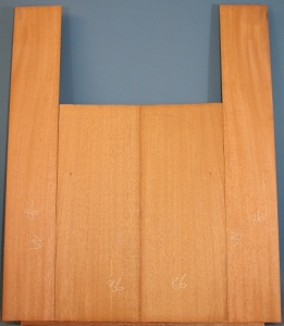 Honduras mahogany guitar back and sides set CAAA*