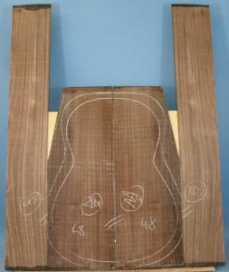 Indian rosewood guitar back and sides CAAA