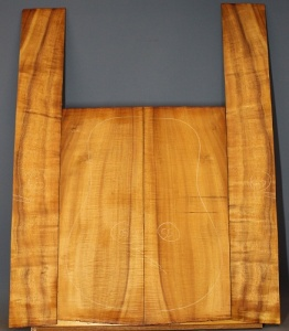 Hawaiin Koa guitar back and sides set AAA