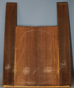 Indian rosewood guitar back and sides CAAA* no 122