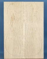 Birds eye maple guitar top type 'B' medium figure