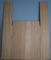 American black walnut guitar back and sides set number 46