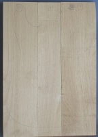 Alder three piece body blank no 17