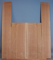 American black walnut guitar back and sides set number 48
