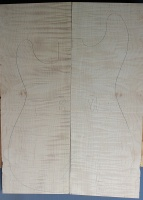 Curly maple guitar top type ' B'  strong figure number 135