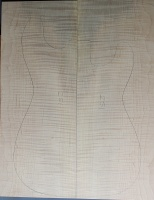 Curly maple guitar top type ' B'  strong figure number 251