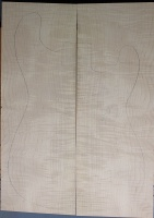 Curly maple guitar top type ' B'  medium figure number 256