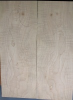 Curly maple guitar top type ' B'  light figure number 257