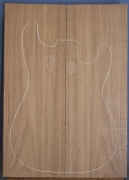 American black walnut guitar top type 'A'