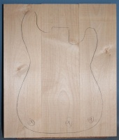 Alder three piece body blank no 9