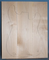Alder three piece body blank no 6