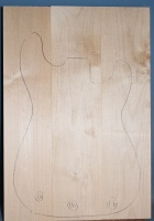 Alder three piece body blank no 16
