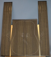 African ebony guitar back and sides set number 6