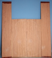 Bubinga guitar back and sides set no 20