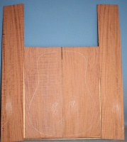 Bubinga guitar back and sides set no 19