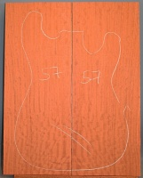 Bubinga guitar top number 57 type 'B'