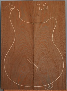 Wenge guitar top number 25 type 'A'