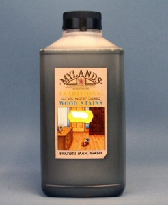 Mylands Acrylic Waterstain Brown Mahogany 1 litre